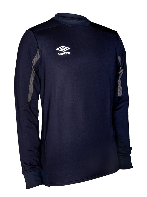 Umbro Poly Sweat Crew Top - Dark Navy/Charcoal - Umbro South Africa