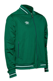 Umbro Anthem Jacket - Bottle Green/White/Silver - Umbro South Africa