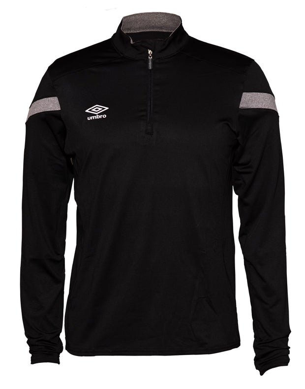 Umbro Half Zip Top - Black/Charcoal - Umbro South Africa
