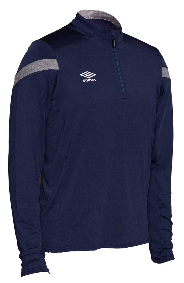 Umbro Half Zip Top - Dark Navy/Charcoal - Umbro South Africa
