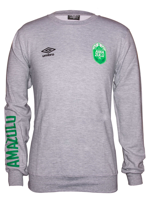 Amazulu FC - Supporter Crew Top - Grey Melange - Umbro South Africa