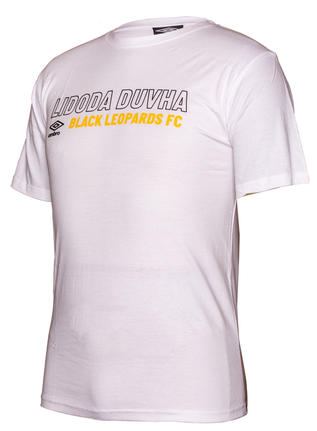 Black Leopards Supporters T-Shirt 2019/2020 - White - Umbro South Africa