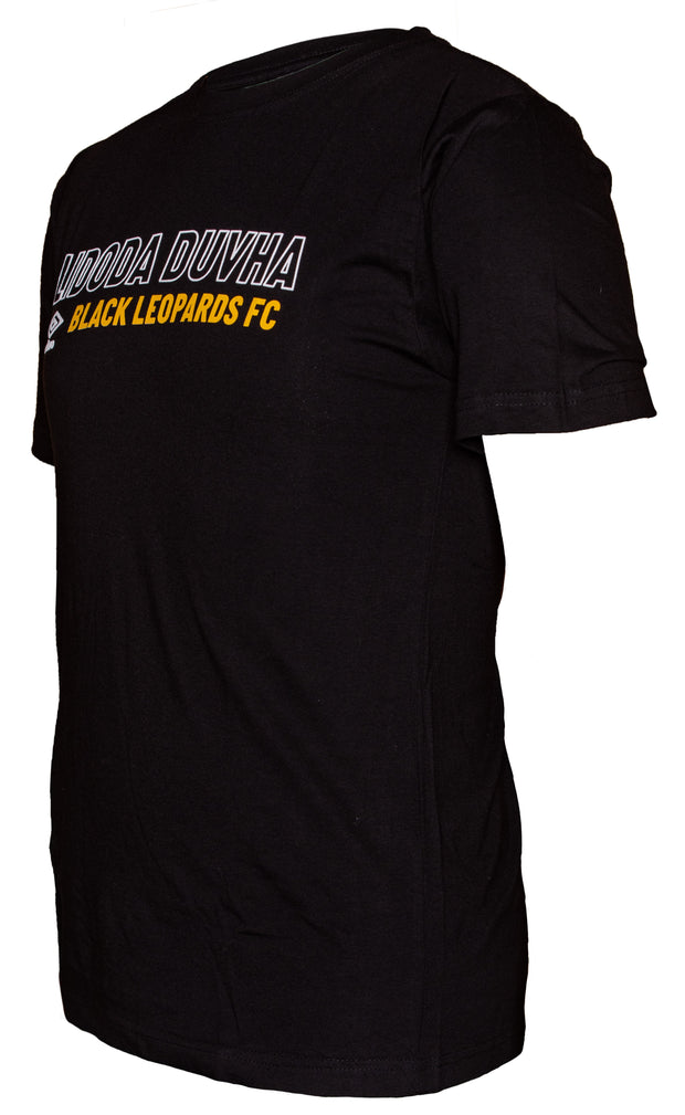 Black Leopards Supporters T-Shirt 2019/2020 - Black - Umbro South Africa