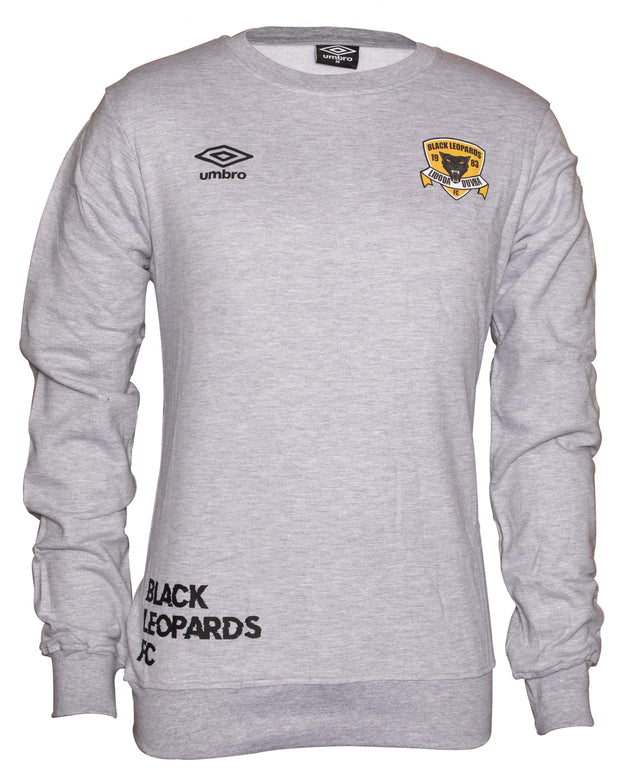 Black Leopards Supporters Crew Top 2019/2020 - Grey - Umbro South Africa