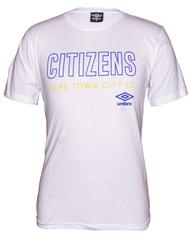 Cape Town City Supporters T-Shirt 2019/2020 - White - Umbro South Africa