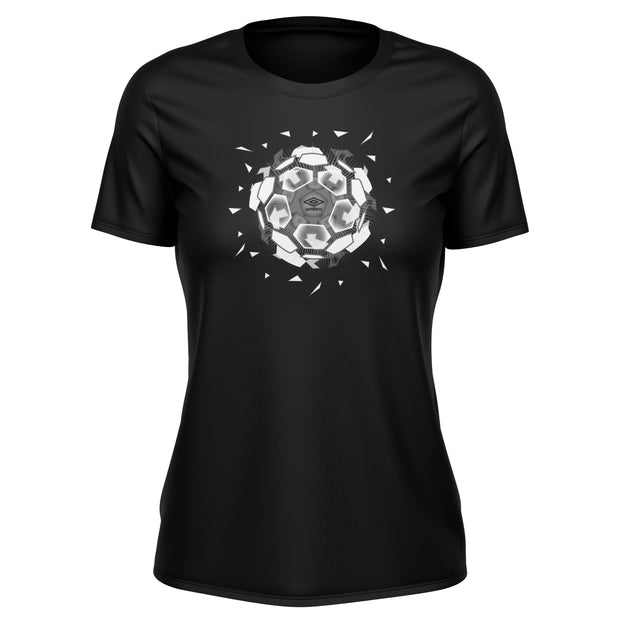 Umbro Explosive Tee - (Black/White/Carbon) - Ladies - Umbro South Africa