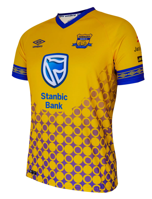 Township Rollers FC Away Replica Jersey - 18/19 - Yellow/Royal - Umbro South Africa