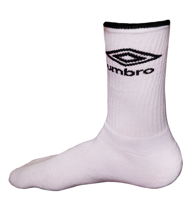 Umbro 2Pk Liner Tennis Sock - (White/Black) - Umbro South Africa