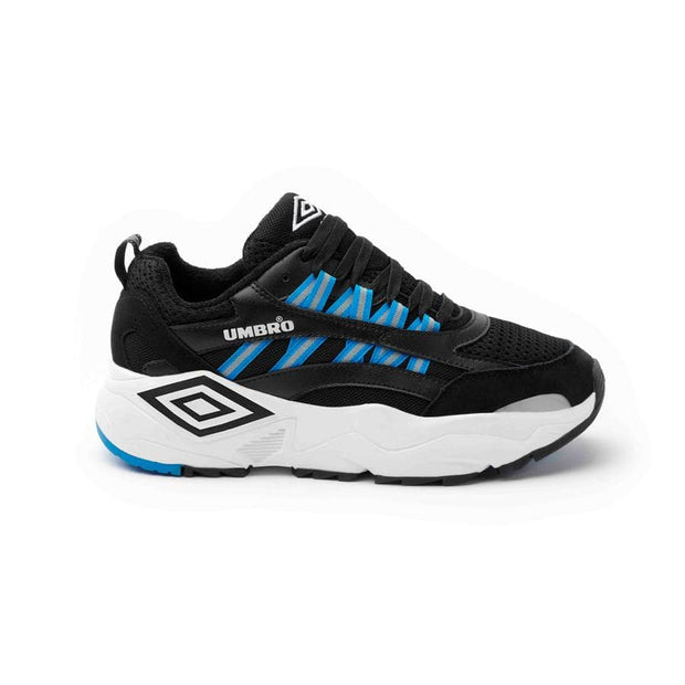 Neptune Sneaker - Black/White/Ibiza Blue - Umbro South Africa