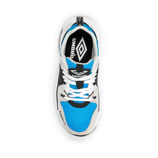 Umbro Run M Sneaker - White/Black/Ibiza Blue/Grey - Umbro South Africa