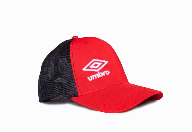 Umbro Trucker Peak Cap - (Red/Black) - Umbro South Africa
