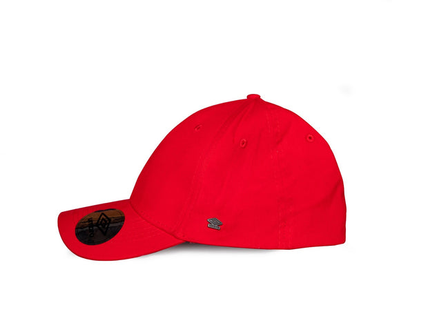 Umbro Curved Peak Cap - (Red/White) - Umbro South Africa