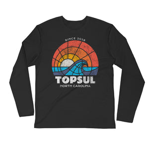 Sunset Long Sleeve Fitted Crew