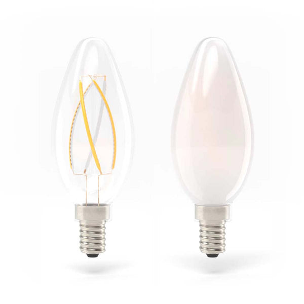 Radiance LED Bulb 4W (00W equivalent) B35/C35 Dimmable E12  - Prism One