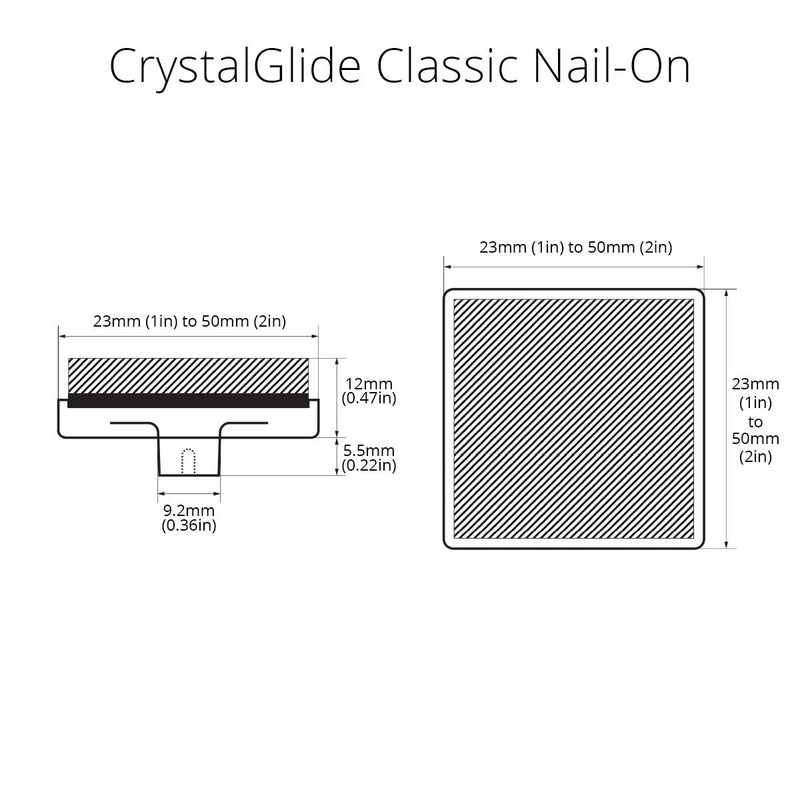 CrystalSlide Classic Nail-On Square Premium Floor Protection 1in to 2in  - Prism One