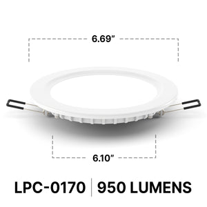 Radiance LPC 0170 LED Downlight | 3000-4500K | 10.6W | 870-950lm Dimmable  - Prism One