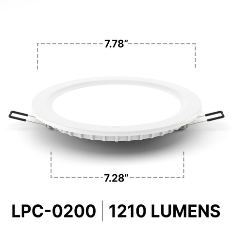 Radiance LPC 0200 LED Downlight | 3000-4500K | 11W | 1060-1210lm Dimmable  - Prism One