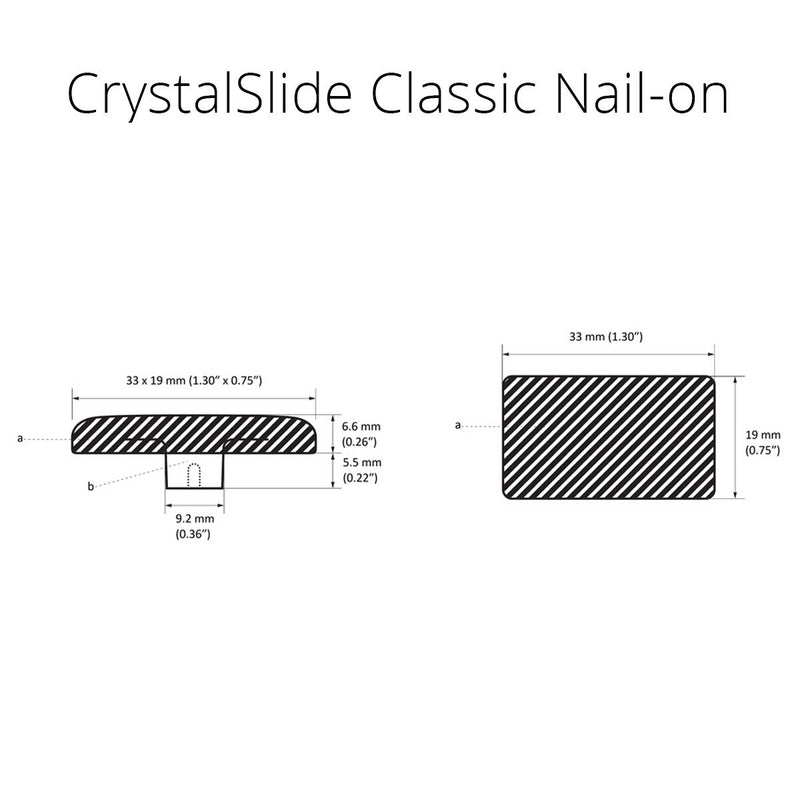 CrystalSlide Classic Nail-On 19mm (0.8 in) x 33mm (1.3 in)  - Prism One