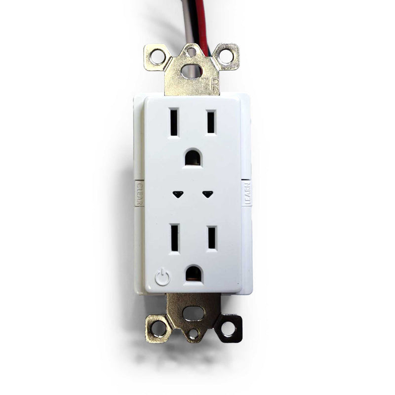 Split Duplex Controlled Outlet - White  - Prism One