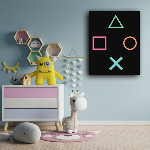 Play Station - Handpainted Canvas Art 12 inch x 18 inch