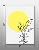 Sun and tree - Handpainted Canvas Art 12 inch x 18 inch