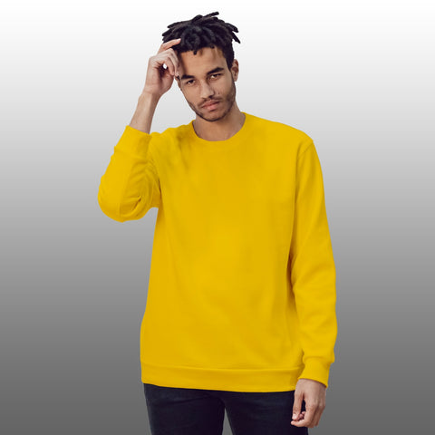 Yellow Basic Sweatshirt