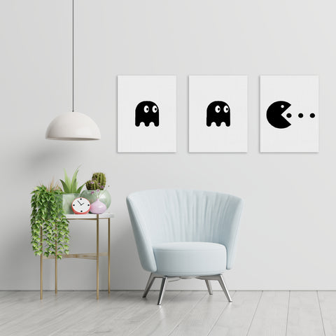 Pacman - Handpainted Canvas Art 12 inch x 18 inch
