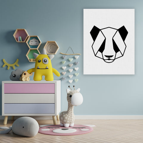 Panda - Handpainted Canvas Art 12 inch x 18 inch