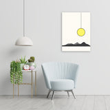 Sun rise - Handpainted Canvas Art 12 inch x 18 inch
