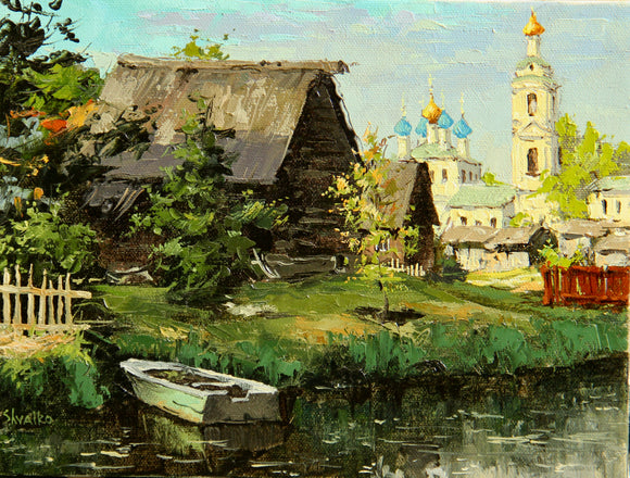 The Russian village view