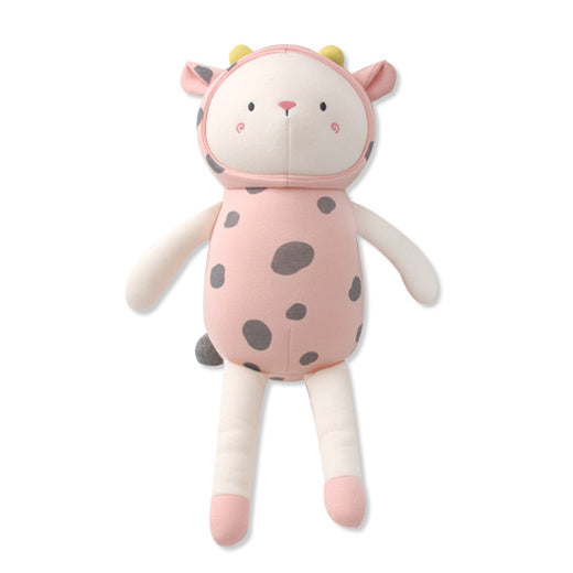 Pink Cow Cow Plush Toy