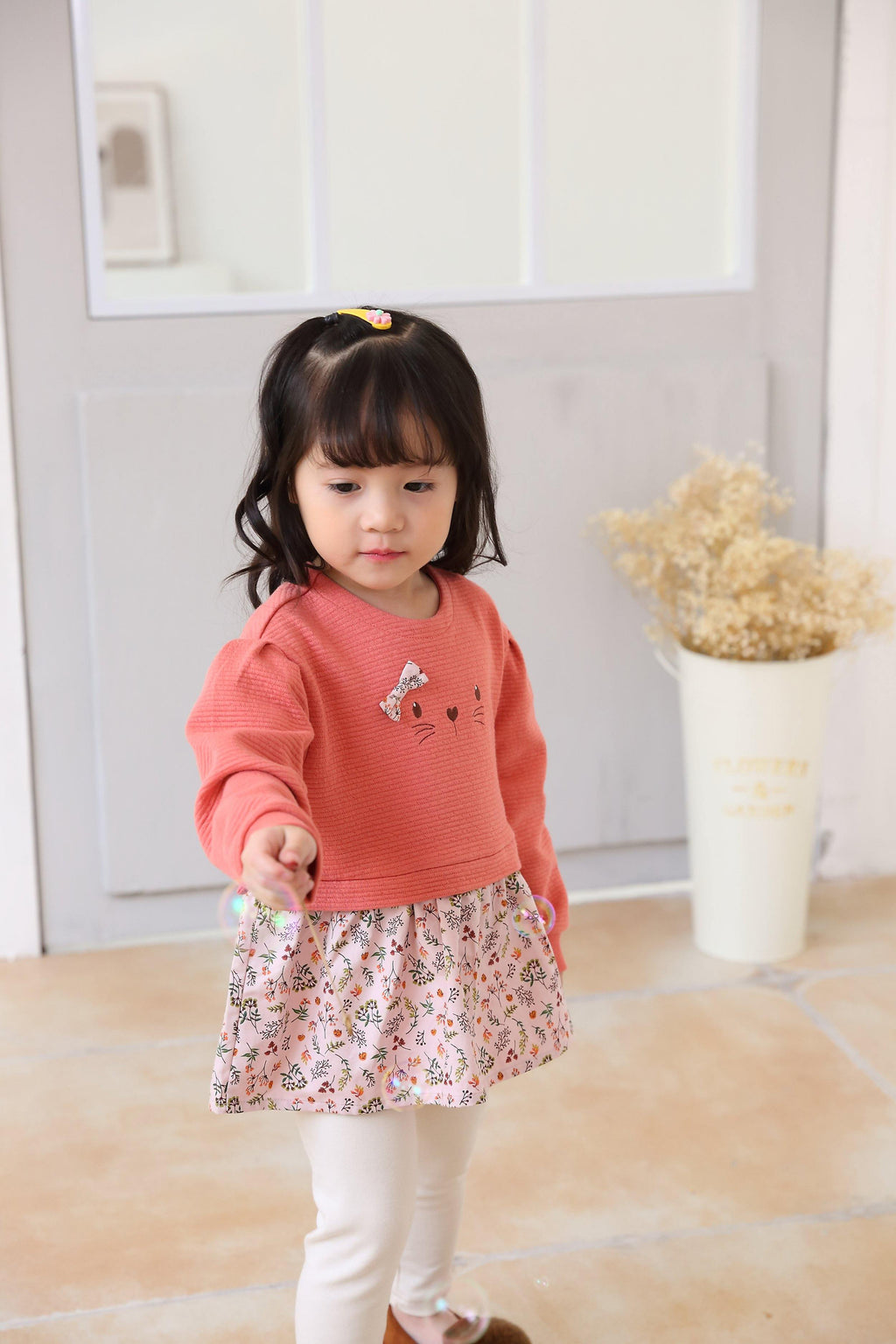 Organic mom Happy Kitty Peplum Set(Fall) - Organic Mom Hong Kong