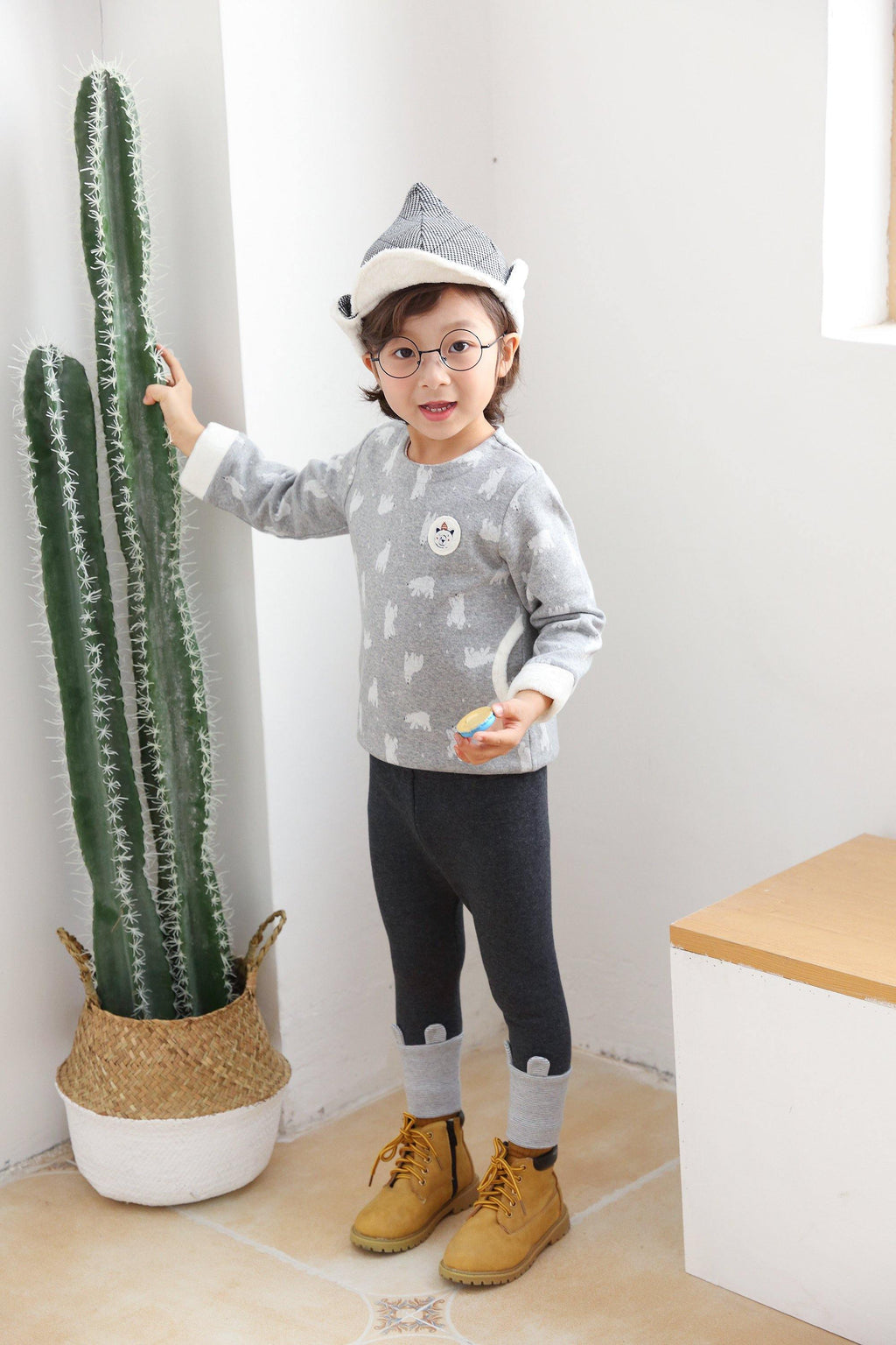 ES Boy Top & Bottom Set-Gray(Fall/Winter) - Organic Mom Hong Kong