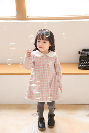 Girl Pink Dress(Fall/Winter) - Organic Mom Hong Kong