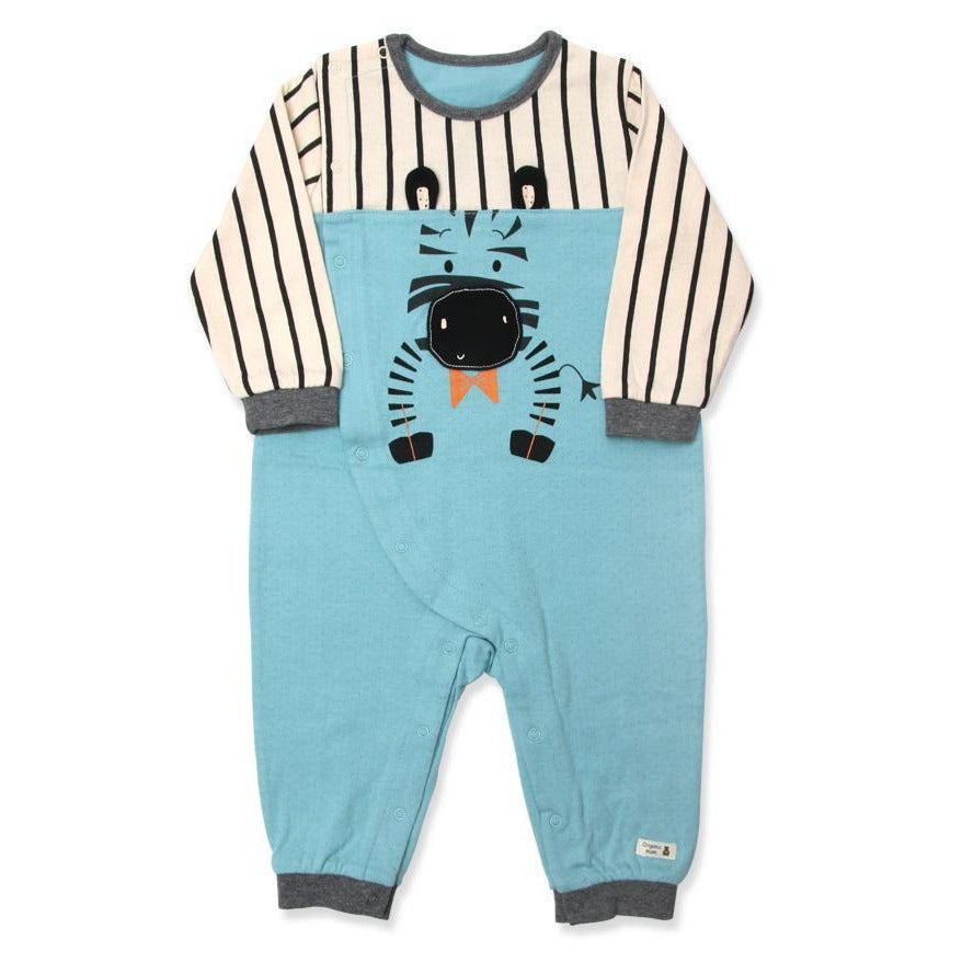 Zed Zebra Organic Cotton onesie (FALL)