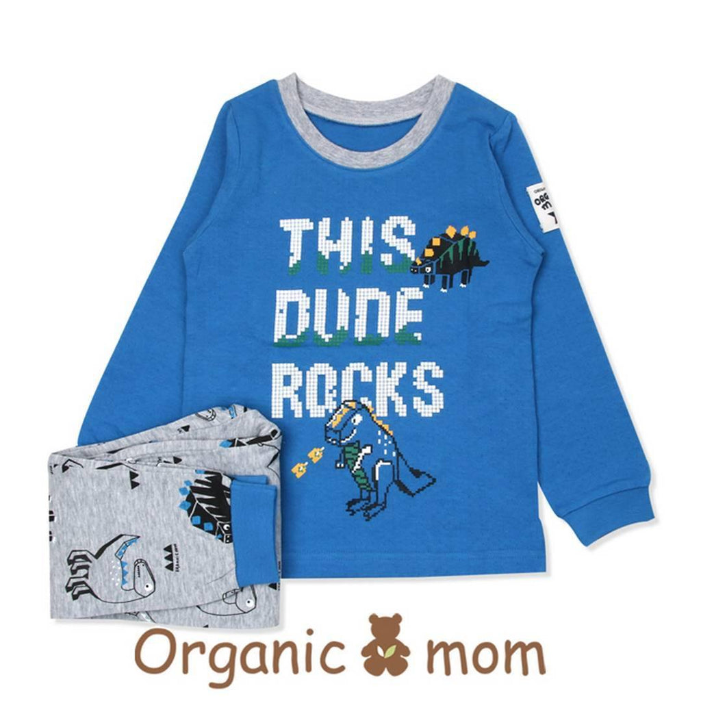 Dinosaur Rocks Big Boy PJ (Fall/Winter) - Organic Mom Hong Kong