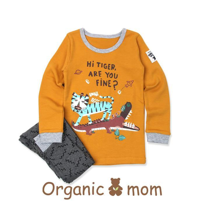 Tiger Fight Big Boy PJ (Fall/Winter) - Organic Mom Hong Kong