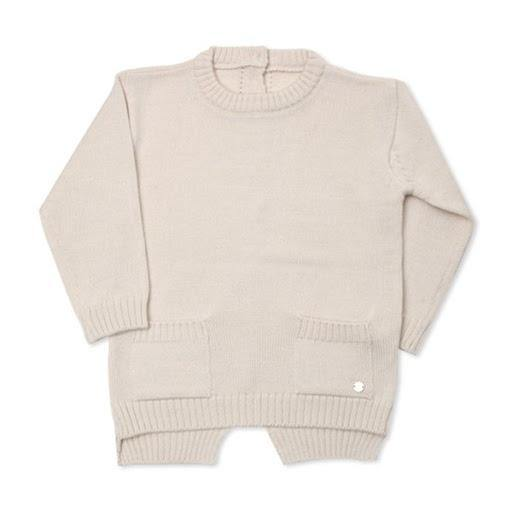 George Beige wool sweater(Winter) - Organic Mom Hong Kong