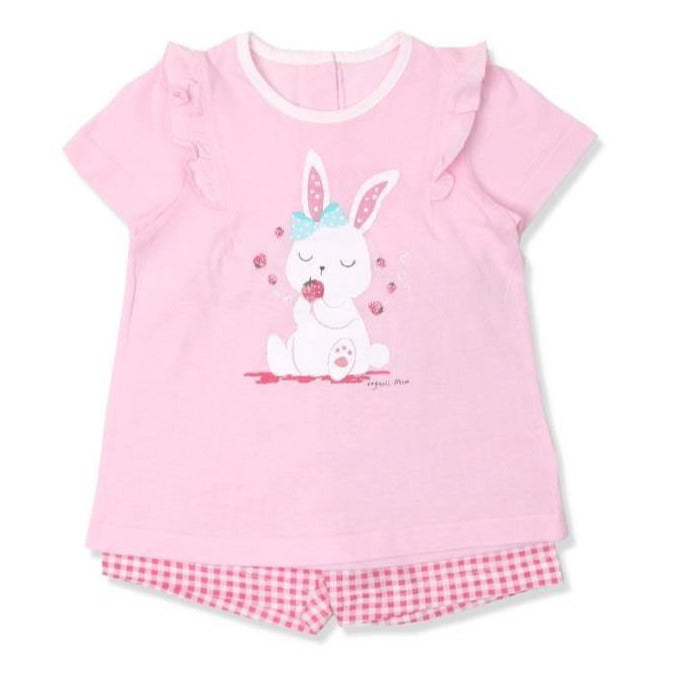 Strawberry Rabbit Toddler PJ (SUMMER) - Organic Mom Hong Kong