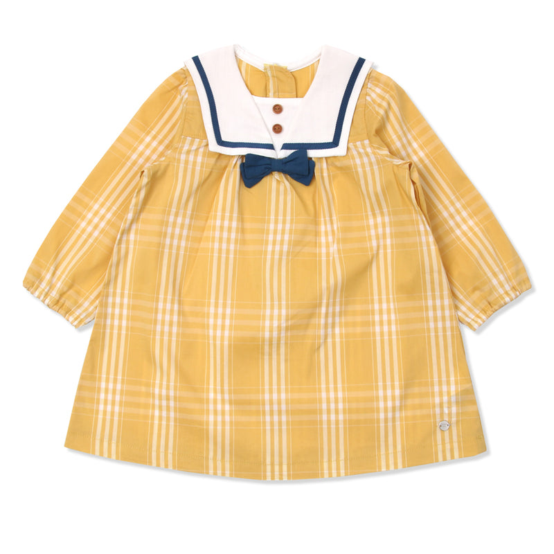Ceylon Yellow Gingham Sailor Dress (SPRING)