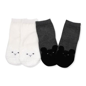 Kitty face white & black Socks  (Fall & Winter)