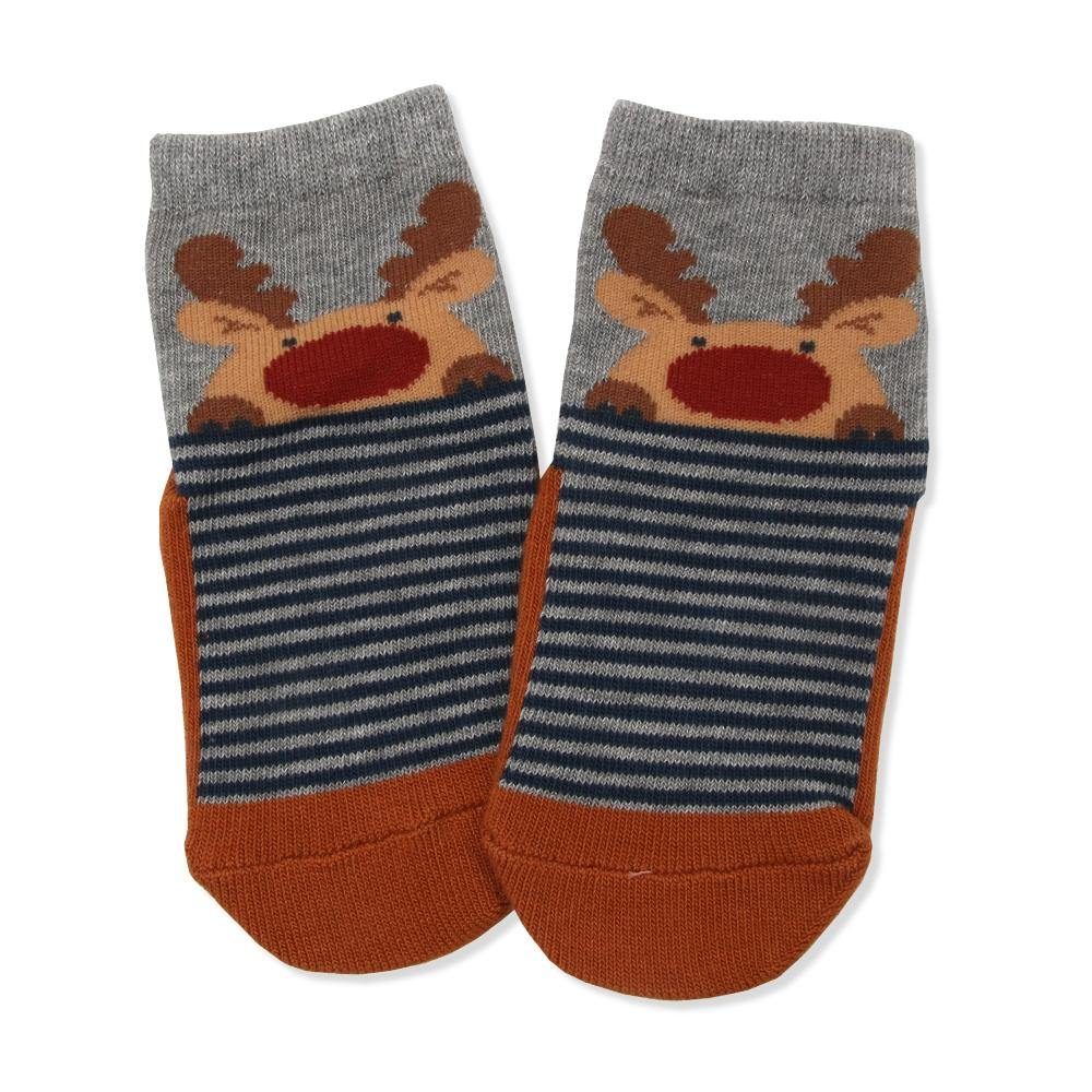 Reindeer Christmas  Socks  (Fall & Winter) - Organic Mom Hong Kong