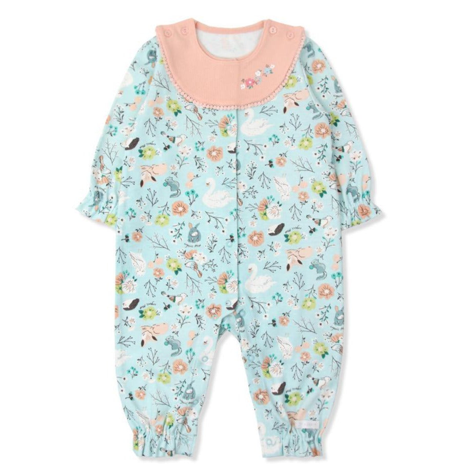 Vivian secret garden  Organic Cotton Onesie (Fall & Winter)