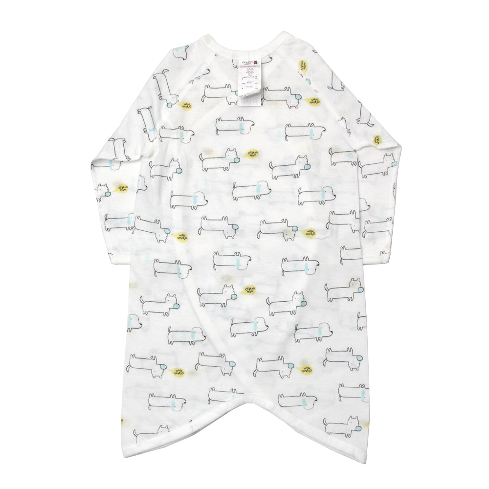 Julian Puppy print Newborn Gown (SPRING/SUMMER)