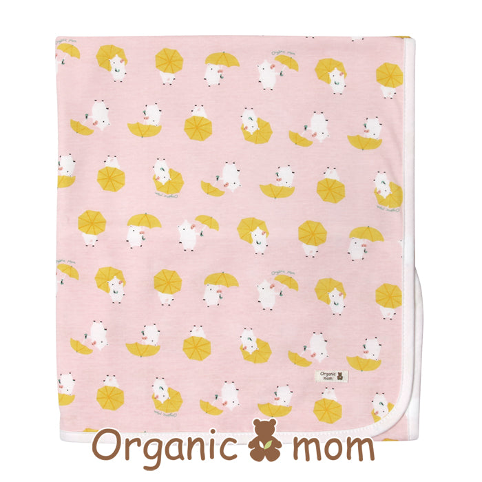 Rainy Piggy (pink) Swaddle Blanket (SPRING/SUMMER)