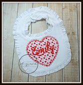 Scallop Heart Bib