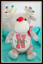 Silver Reindeer Stuffed Animal