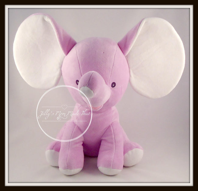 Lavender Stuffed Dumbo Elephant - NO Personalization
