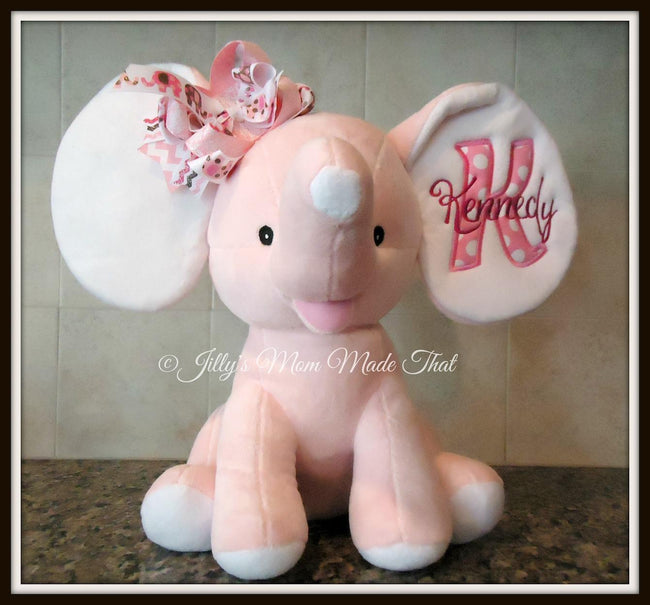 Pink Stuffed Dumbo Elephant