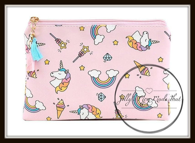 Unicorn Cosmetic Bag - Pink
